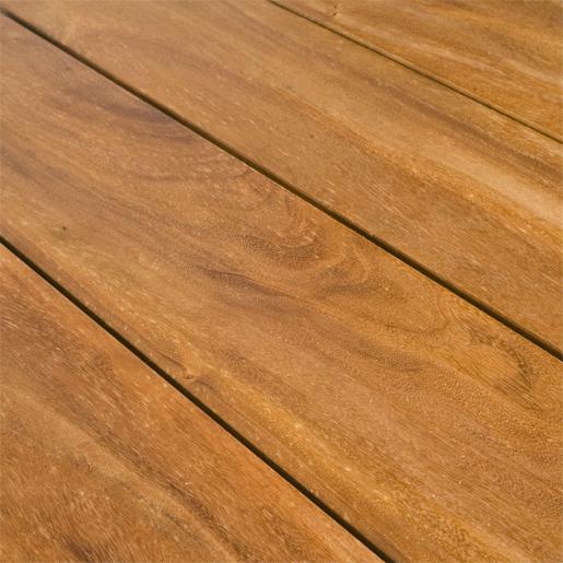 Garapa golden teak s4s e4e garapa golden teak 5 4x4 for Hardwood decking supply