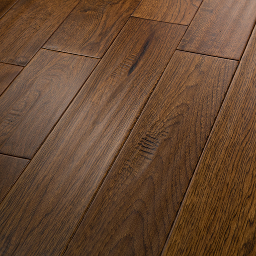 Is Hickory A Good Wood For Floors: Hickory High Desert Hardwood Flooring Handscraped ABCD 4.9""