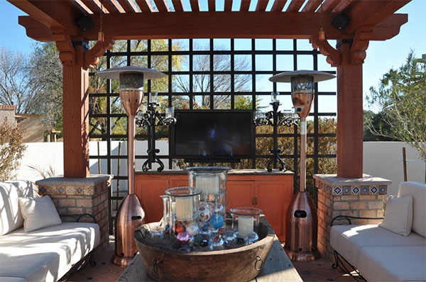 TV outdoors while on the deck