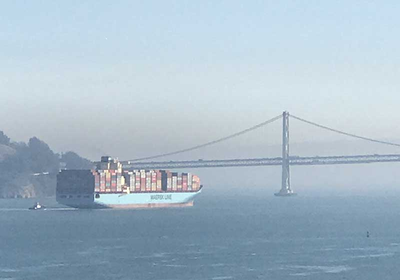 Container Ship Inbound from Asia