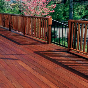 Ipe Deck with Flowers