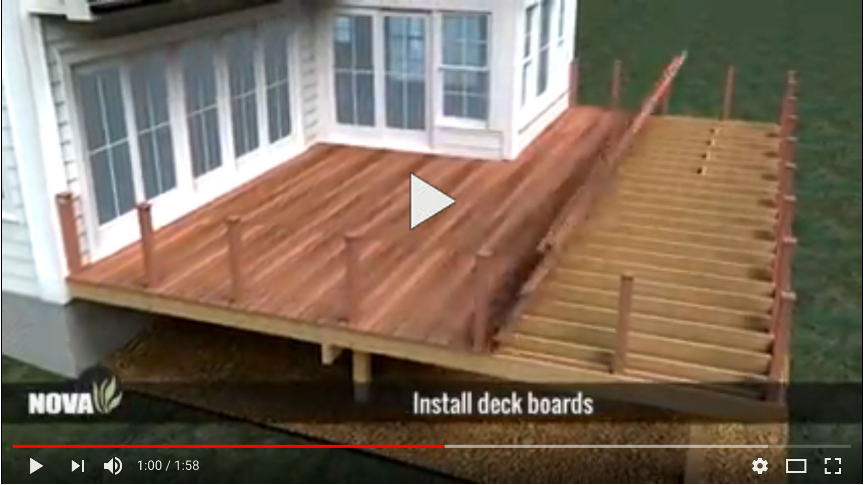 Lovely Hardwood Decking Installation Video