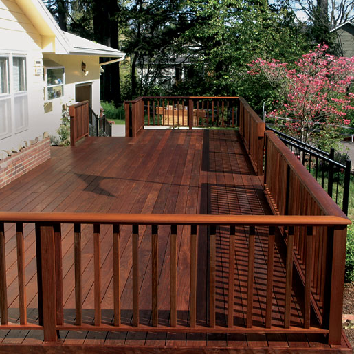 Ipe Decking Backyard