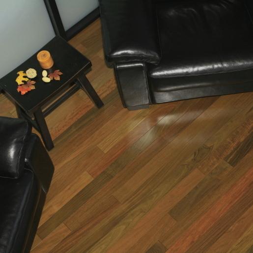 "Prefinished Hardwood Flooring Gaps: Ipe 3-1/4"" Clear Brazilian Walnut Prefinished Flooring"