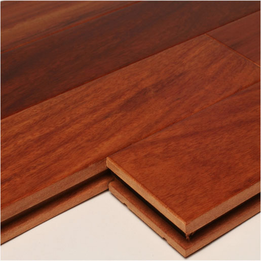 "Santos Mahogany 4"" Unfinished Clear Hardwood Flooring"