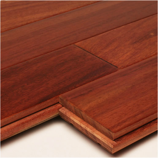 "Santos Mahogany 3-1/4"" Unfinished Clear Hardwood Flooring"