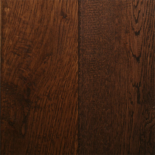 White Oak Coffee Hardwood Flooring Handscraped ABCD 4.9""