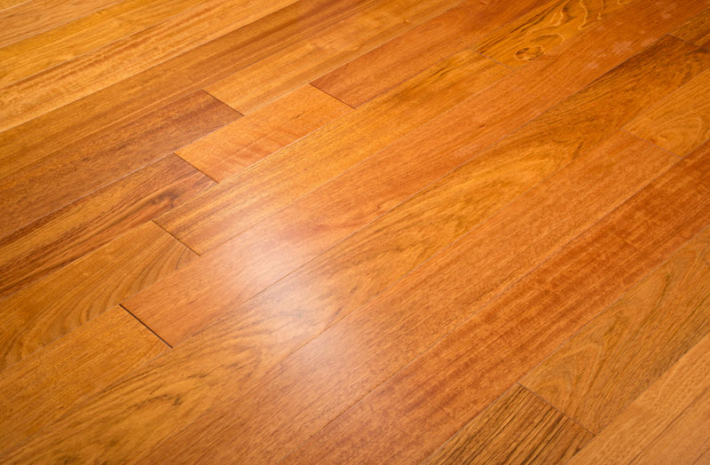 "Brazilian Cherry 5"" Clear Prefinished Jatoba Flooring 11/16"""