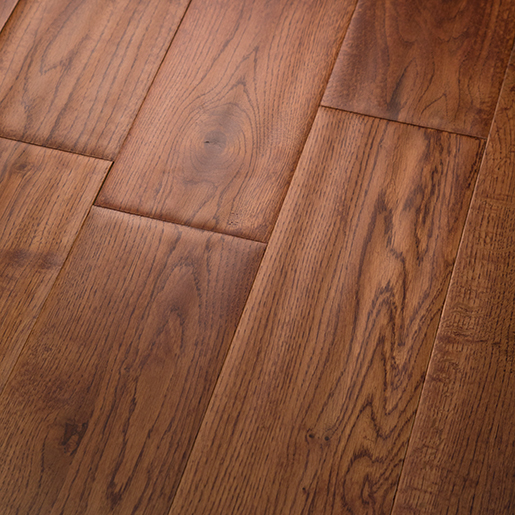White Oak Asian Teak Hardwood Flooring Handscraped ABCD 4.9""
