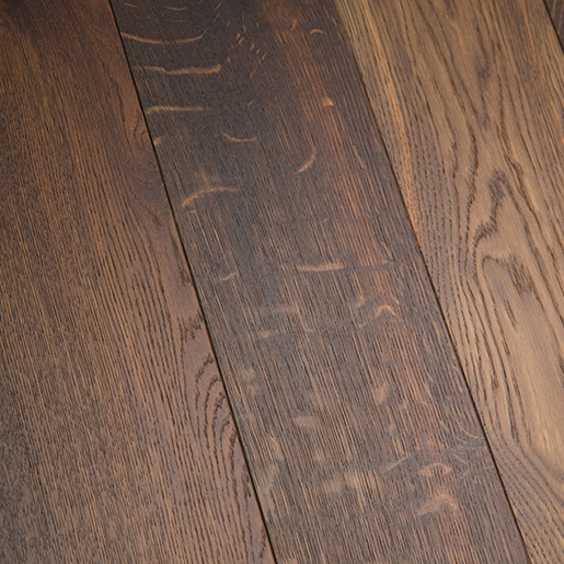 White Oak Smoked Engineered Flooring Brushed Clear 3.5mm Face 5.7""