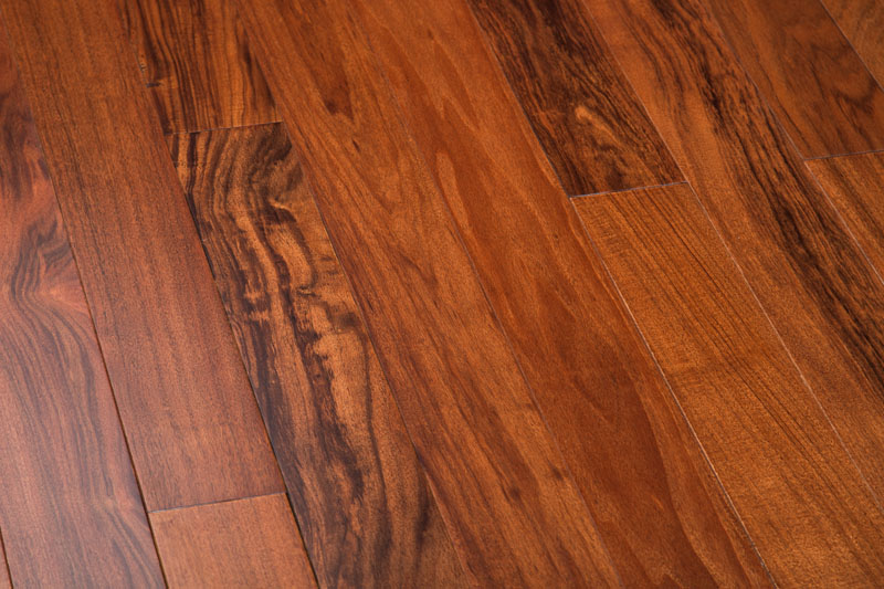 "Patagonian Rosewood 4"" Curupau Clear Dark Prefinished Flooring"