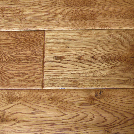 White Oak Saddle Hardwood Flooring Handscraped ABCD 4.9""
