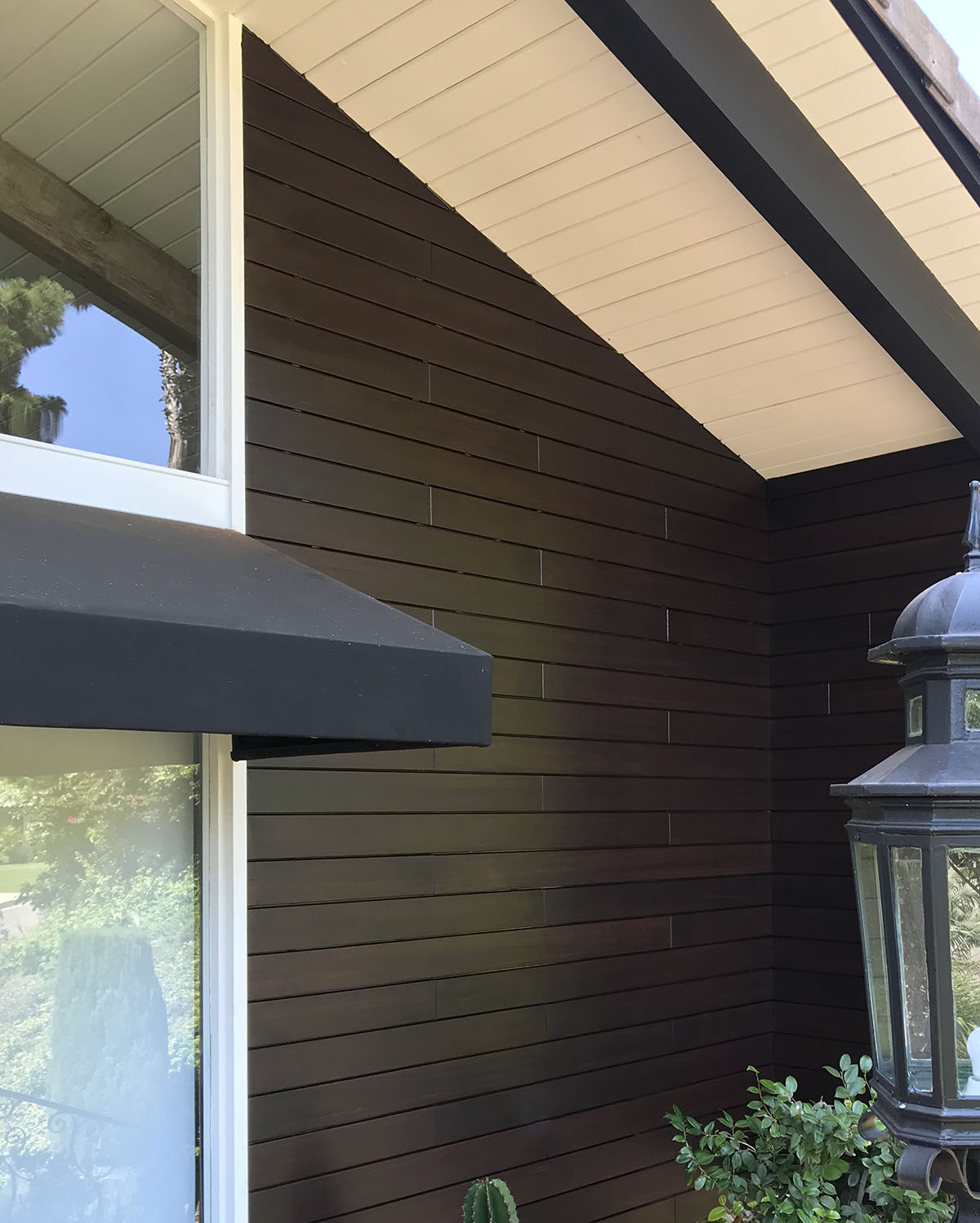 MOSO Bamboo Siding finished with ExoShield Walnut