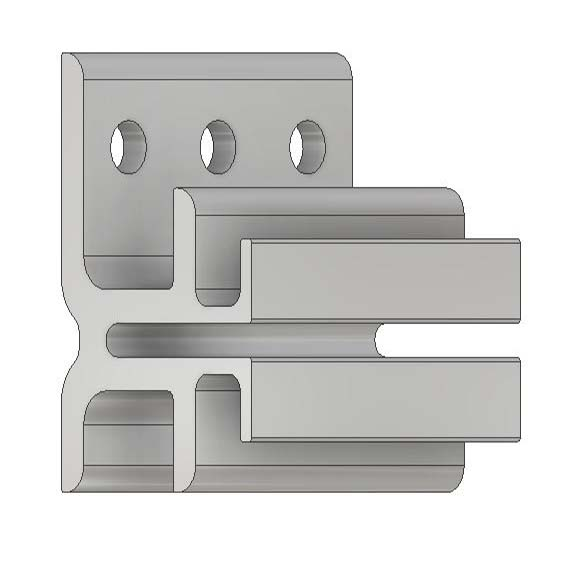 >Extruded Aluminum Rainscreen Clip