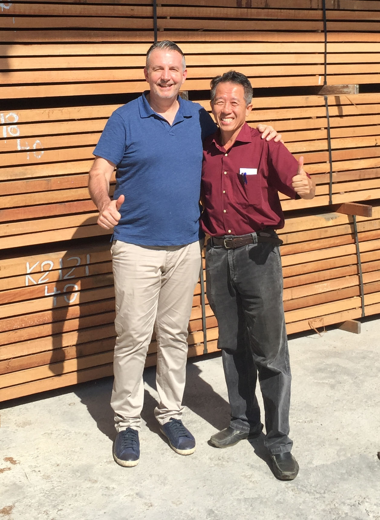 Bill Christou and Supplier - Nova USA Wood Products - Partner